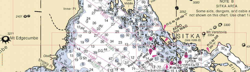 Sitka chart from opencpn